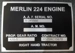 Photo of 24325 - Lancaster Engine Data Plate Replica