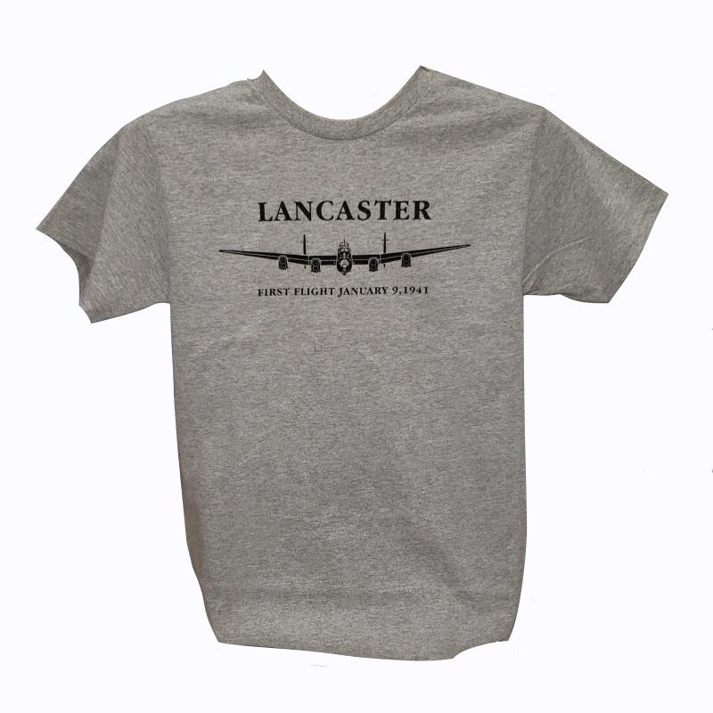 Product Photo of FIRSTFLIGHTGREY - Lancaster First Flight Grey T-Shirt