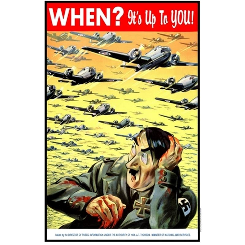 Product Photo of 28416 - When? It's Up To You! RCAF Poster