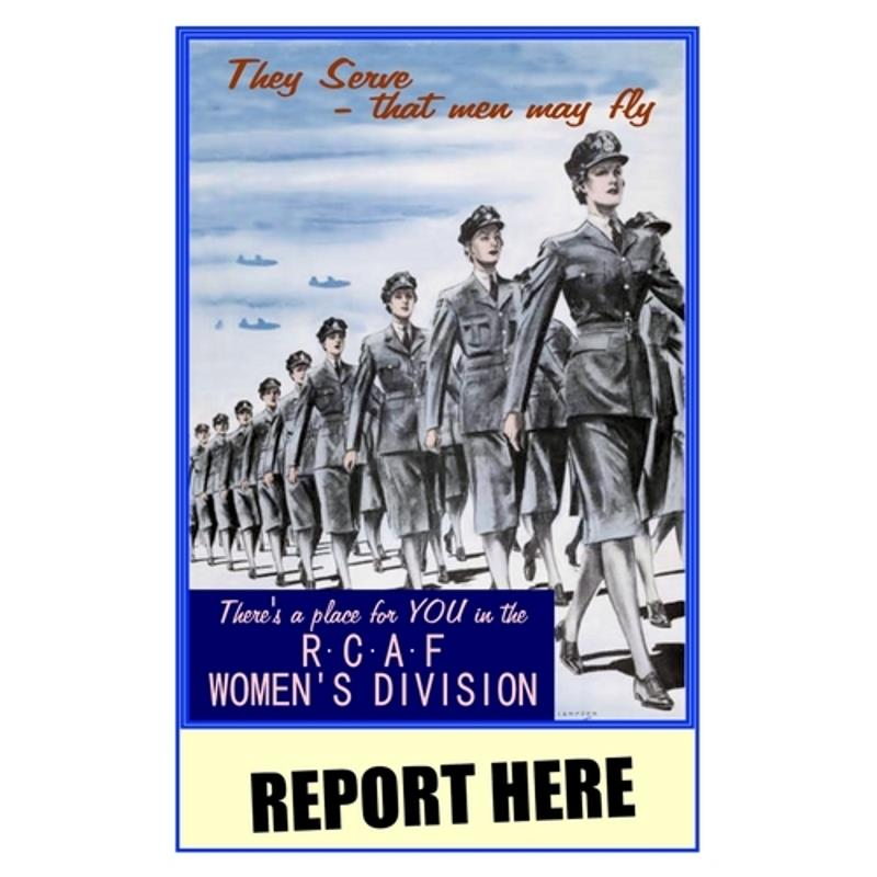 Product Photo of 28417 - Women's Division RCAF Poster