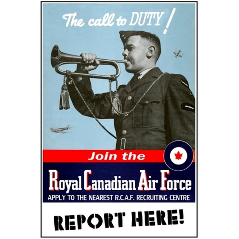 Product Photo of 28419 - The Call to Duty RCAF Poster