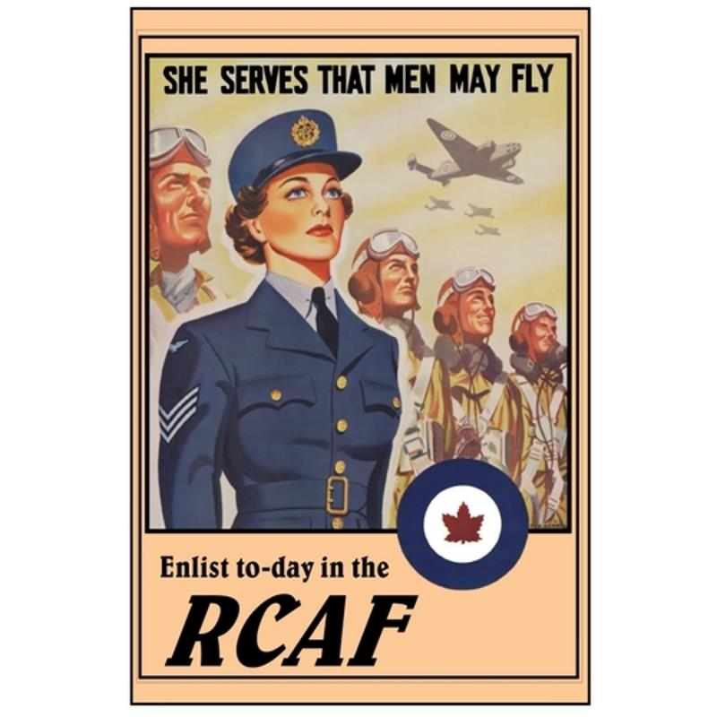 Product Photo of 28420 - She Serves That Men May Fly RCAF Poster