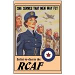 Photo of 28420 - She Serves That Men May Fly RCAF Poster