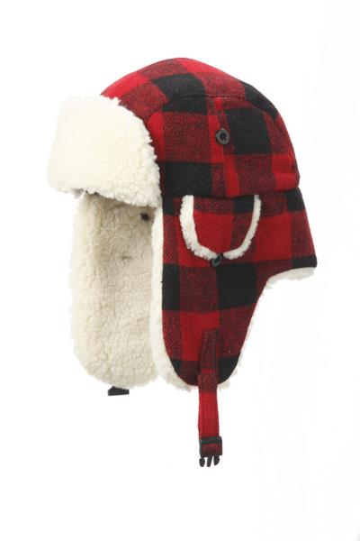 Product Photo of 29075 - Buffalo Check Aviator Hat (Youth)
