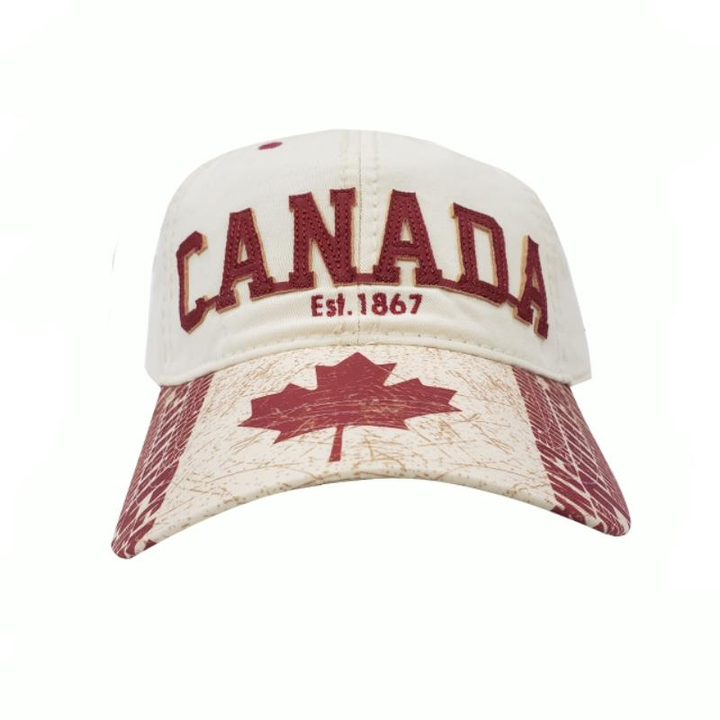 Product Photo of 29187 - Beige Maple Leaf Canada Hat