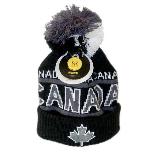 Product Photo of 29191 - Robin Ruth Canada Black Pompom Beanie