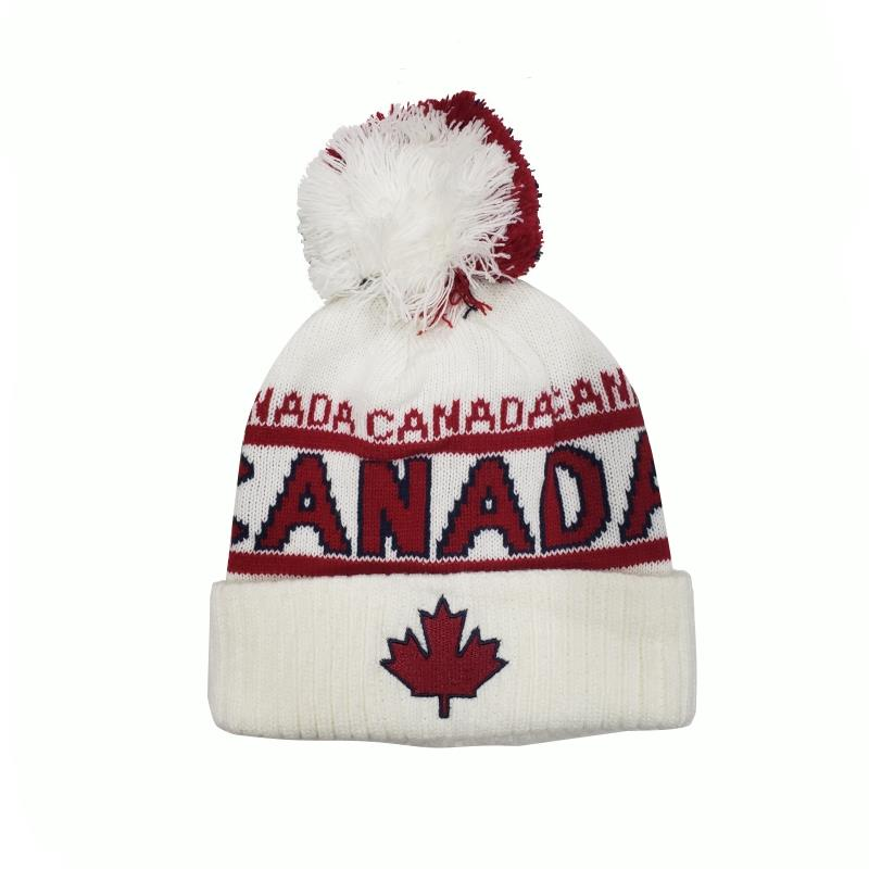 Product Photo of 29192 - Robin Ruth – Canada White Pompom Beanie