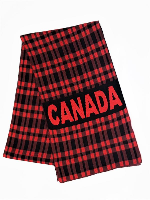 Product Photo of 29418 - Black - Canada Scarf - Black & Red