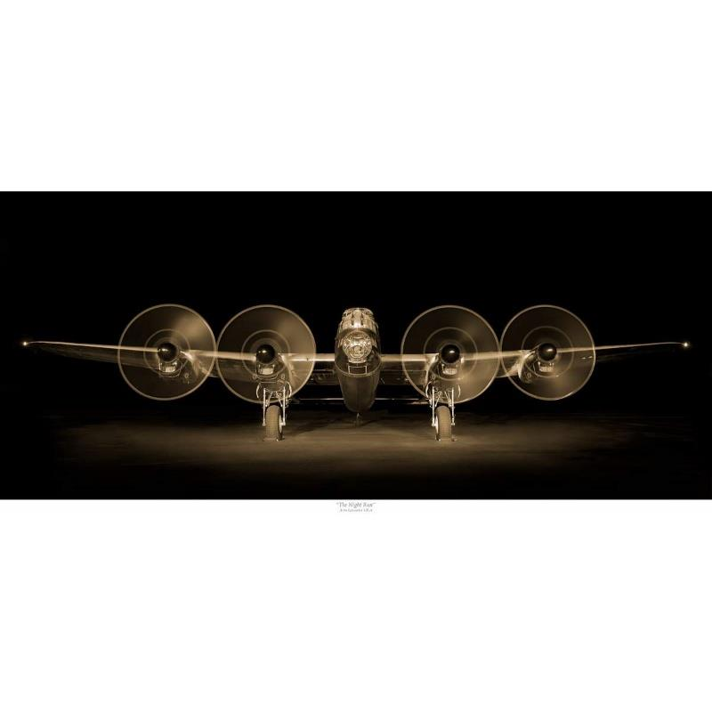 Product Photo of 29474 - Lancaster Night Run (sepia) Print