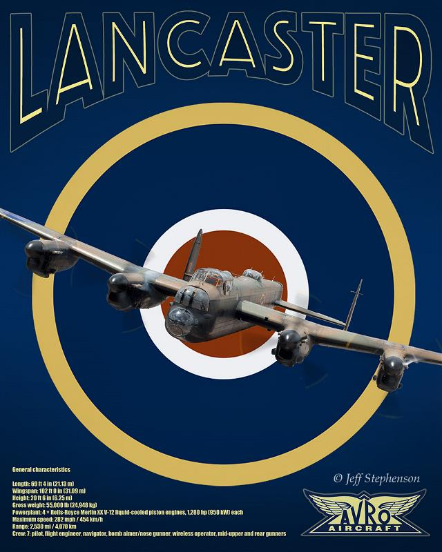 Product Photo of 29959 - Avro Lancaster RCAF Roundel Print