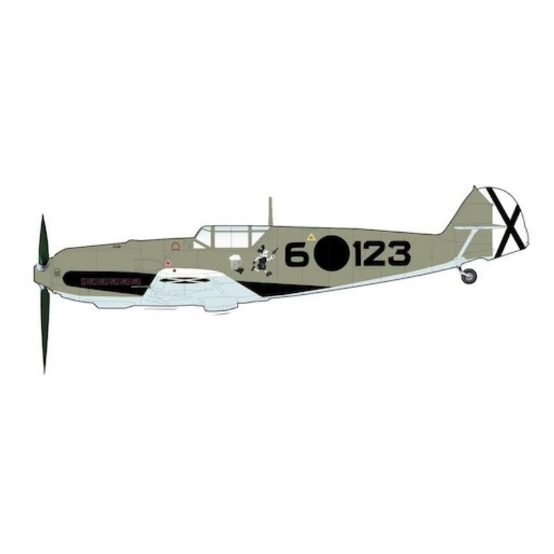 """Product Photo of 30131 - Messerschmitt Bf109E-3 """"Spanish Civil War"""", 1939 Diecast Model"""