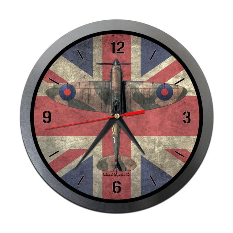 Product Photo of 30197 - Spitfire over Union Jack Metal Clock
