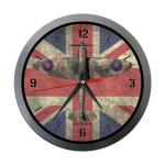Photo of 30197 - Spitfire over Union Jack Metal Clock