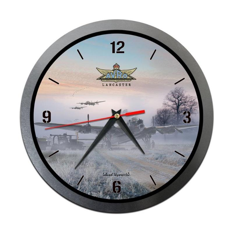 Product Photo of 30199 - Avro Lancaster in Mist Metal Clock