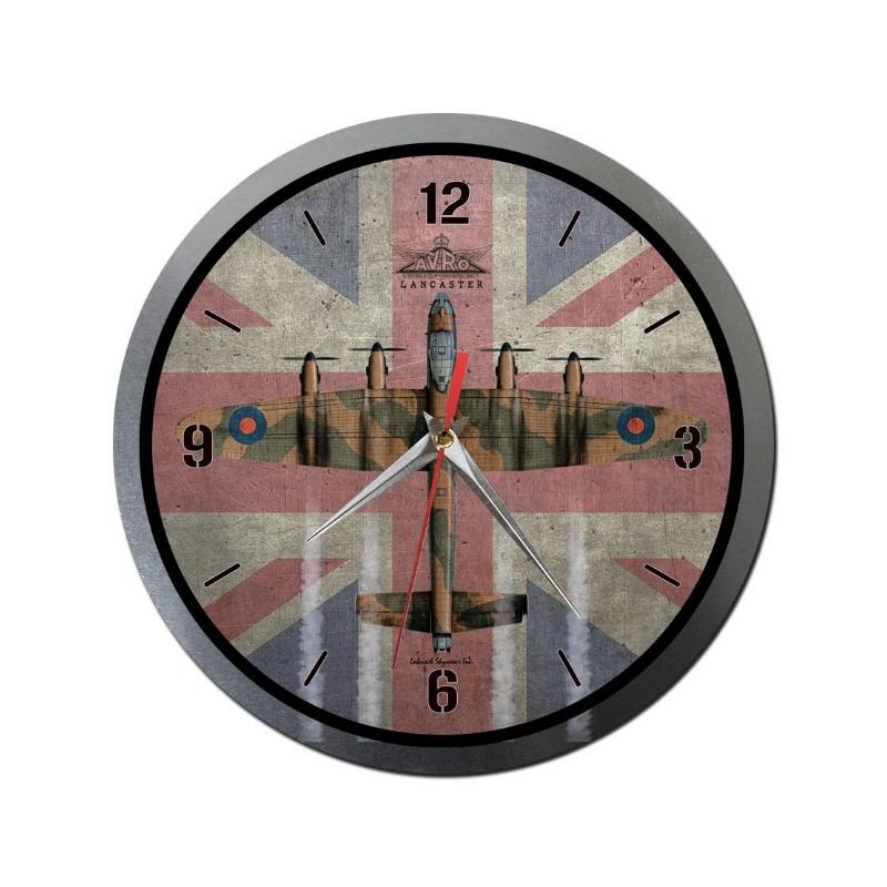Product Photo of 30281 - Avro Lancaster with Union Jack Metal Clock