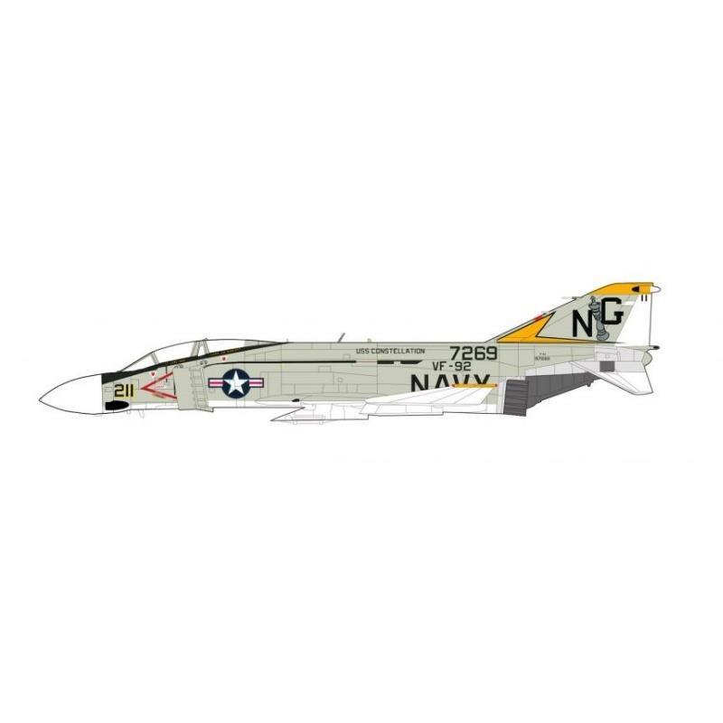 "Product Photo of 30303 - F-4J Phantom II ""Mig-17 Killer"",  USS Constellation, 1972, Diecast Model"