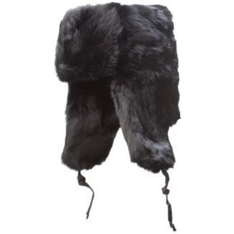 Product Photo of AVIATOR-HAT-SIX - Rabbit Full Fur Russian Style Aviator Hat