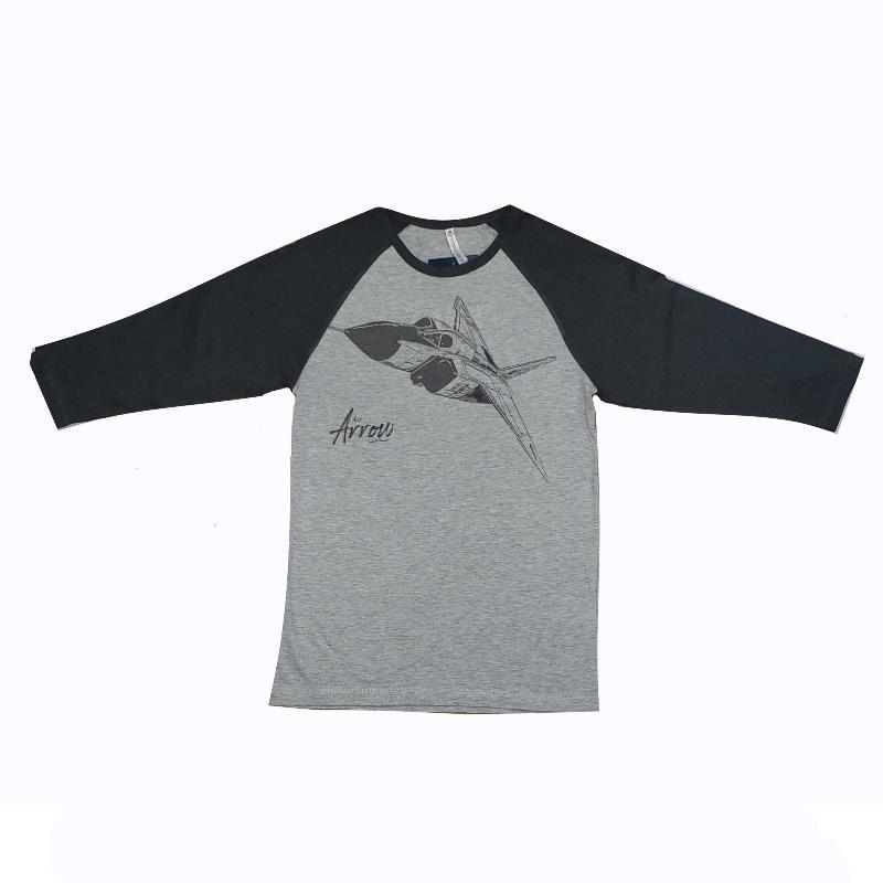 Product Photo of ArrowBaseballTshirt - Avro Arrow Baseball T-Shirt