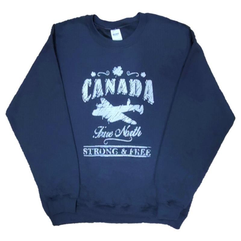 Product Photo of CANADA sweatshirt navy - Canada True North Adult Sweatshirt (Navy)