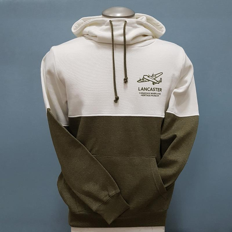 Product Photo of CREAM-AND-OLIVE-LADIES-HOODIE - Cream and Olive Ladies High Neck Hoodie