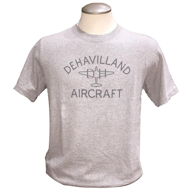 Product Photo of DAXTSHIRTDEHAVILLANDGREY - De Havilland Aircraft T-shirt