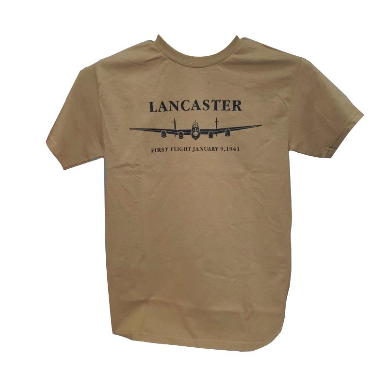 Product Photo of FIRSTFLIGHTTAN - Lancaster First Flight Tan T-Shirt