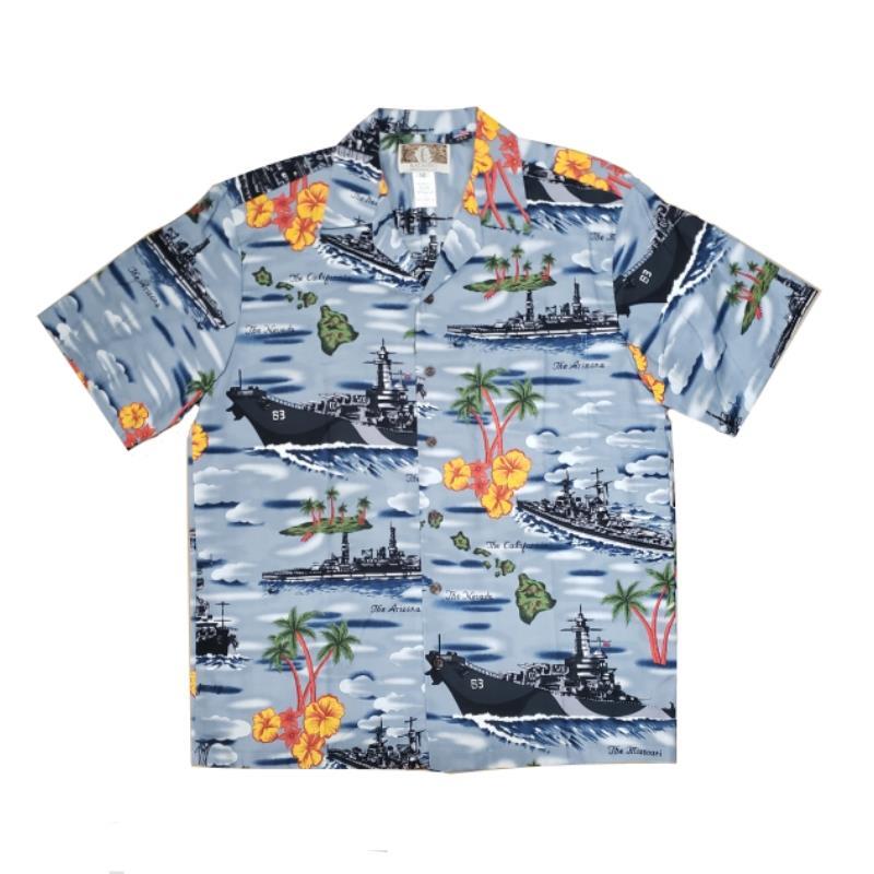 Product Photo of HAWAIIANSHIRTBLUESTEEL - Blue Steel Hawaiian Shirt