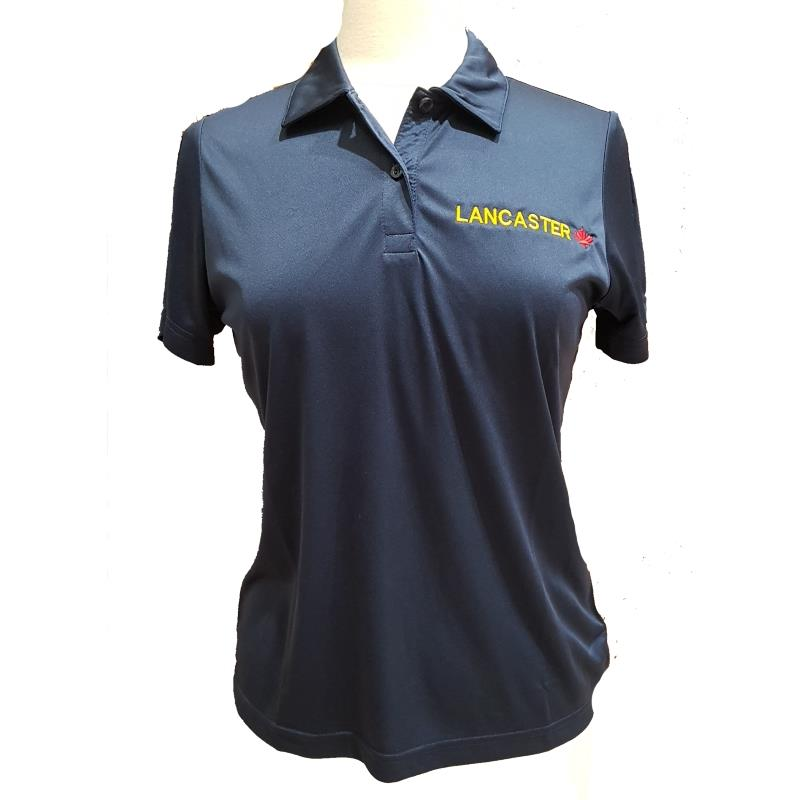 Product Photo of LADIESNAVYLANCPOLO - Ladies Navy Blue Lancaster Maple Leaf Polo