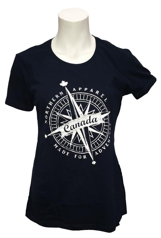 Product Photo of LMTD0275 - T-Shirt Ladies Canada Compass Missy