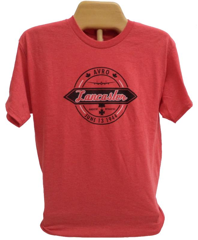 Product Photo of Lanc-Circle-TShirt-Red - Mynarski Memorial Lancaster Roundel T-Shirt