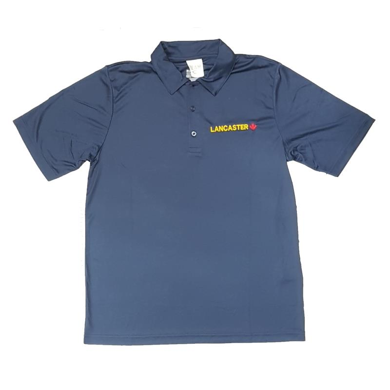 Product Photo of MENSNAVYLANCPOLO - Navy Blue Lancaster Maple Leaf Polo