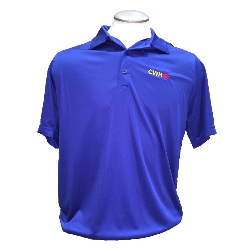 Product Photo of MENSROYALCWHPOLO - Royal Blue CWH Maple Leaf Polo