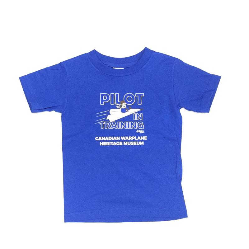 Product Photo of PILOTTRAININGKIDSB - Pilot In Training Blue Kids T-Shirt