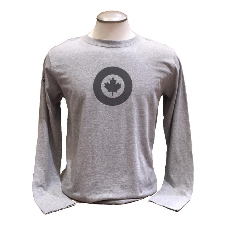 Product Photo of RCAFGREYLONGSLEEVE - RCAF Roundel Long Sleeve Shirt