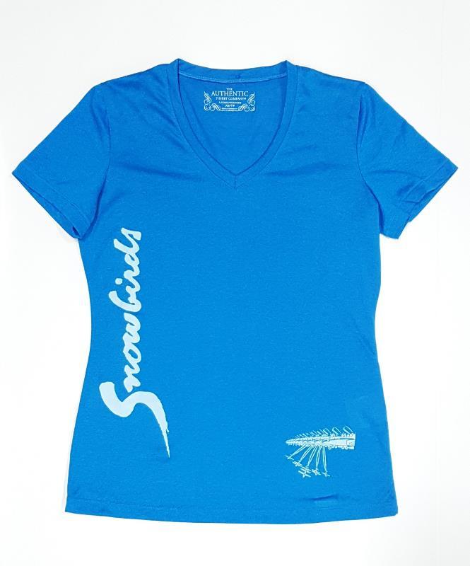 Product Photo of SNOWBIRDSLDSBLUE - Ladies Snowbirds Lightweight T-Shirt