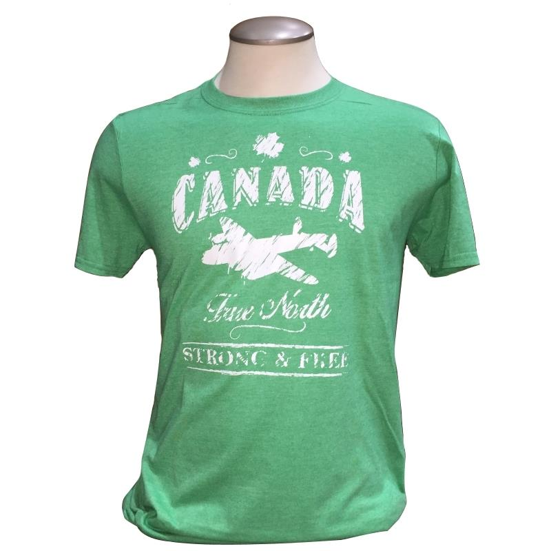Product Photo of STRONGANDFREEGREEN - Canada Strong and Free Green T-Shirt