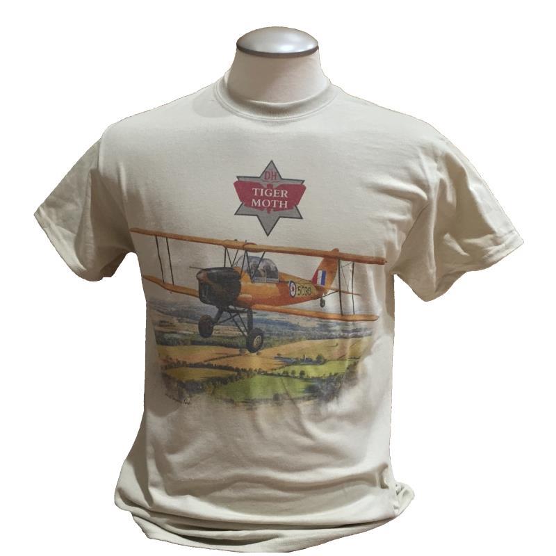 Product Photo of TIGERMOTHTSHIRT - Tiger Moth Tan T-Shirt