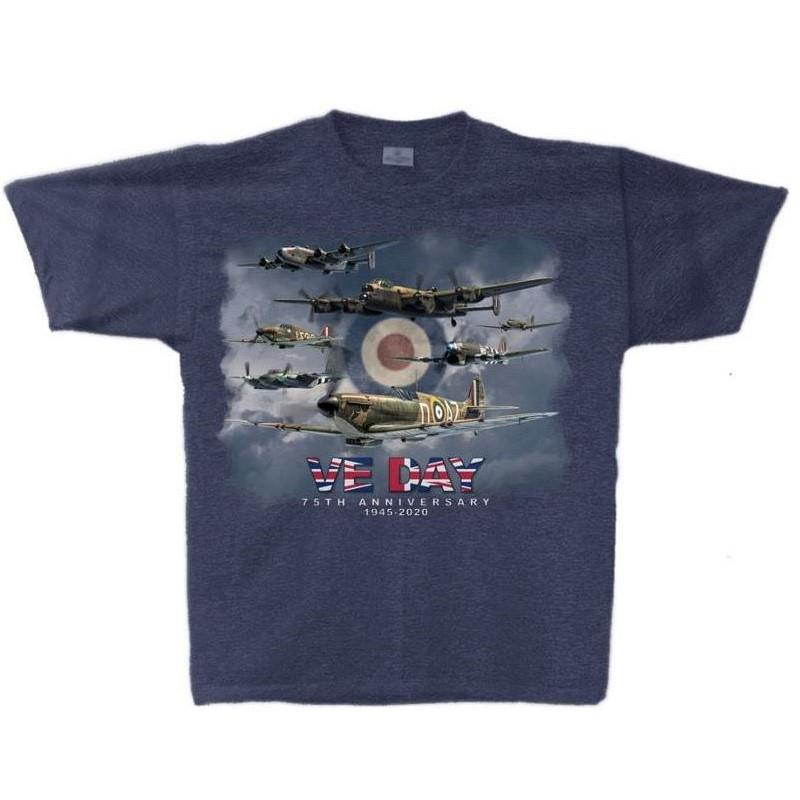 Product Photo of VEDAY75TSHIRT - VE Day 75th Anniversary T-Shirt