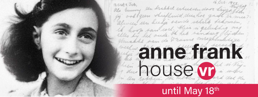 Poster for Anne Frank House Virtual Reality event