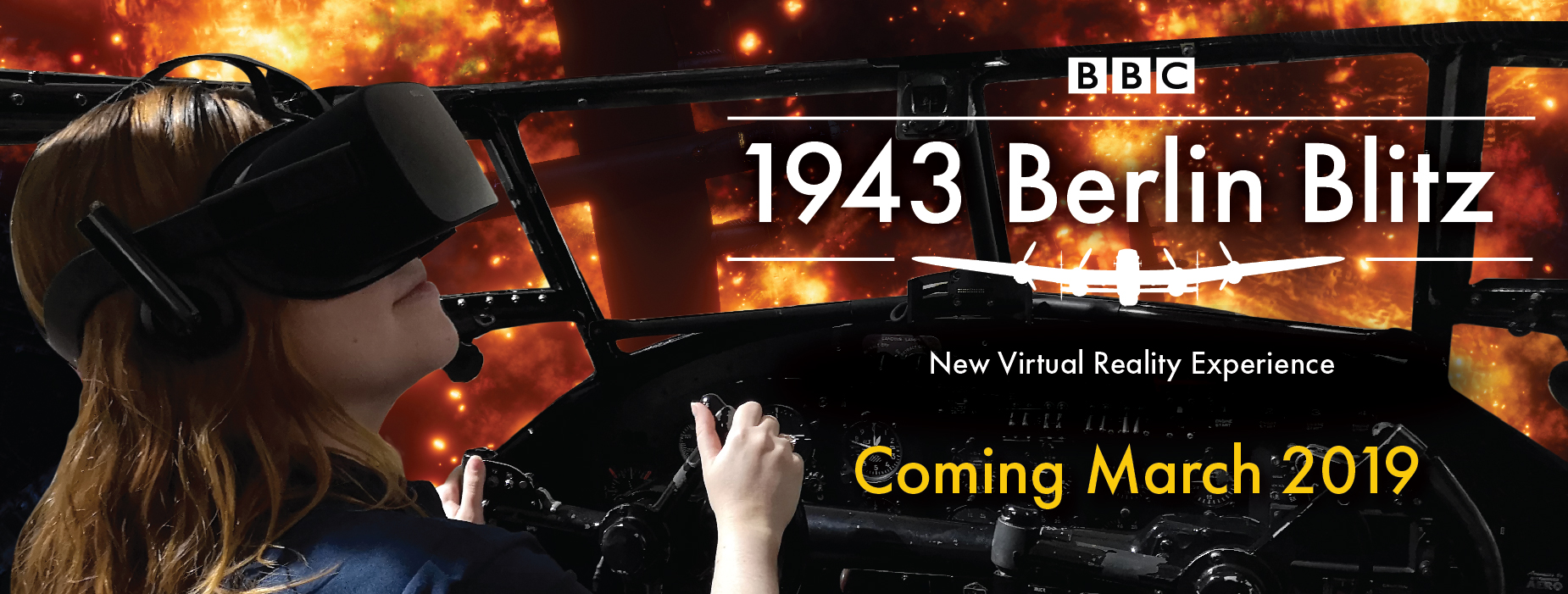 Poster for - Virtual Reality Experience - BBC 1943 Berlin Blitz
