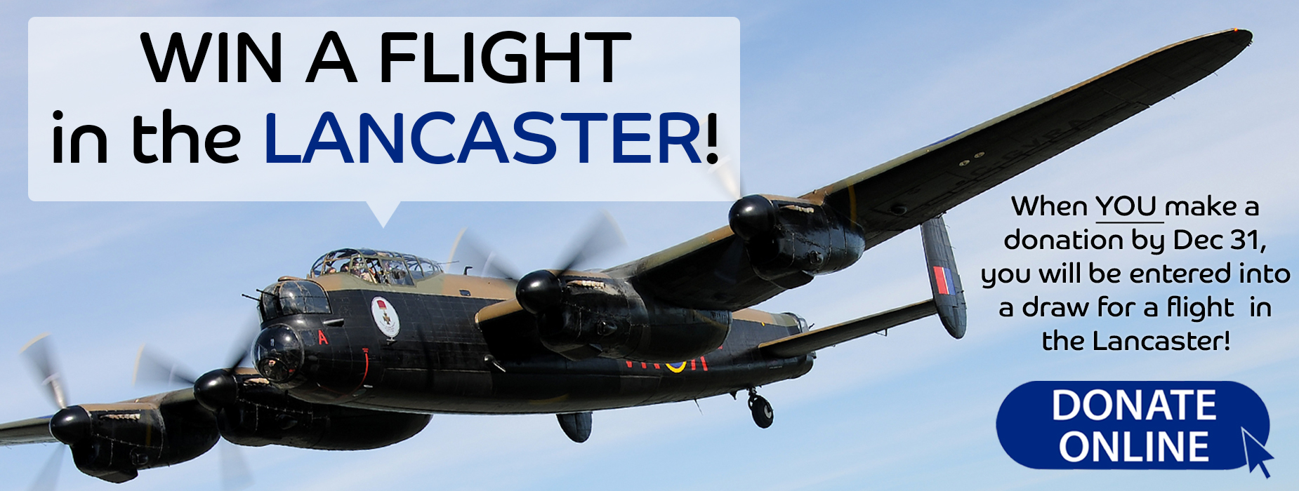 Poster for - Win a Flight in the Lancaster!