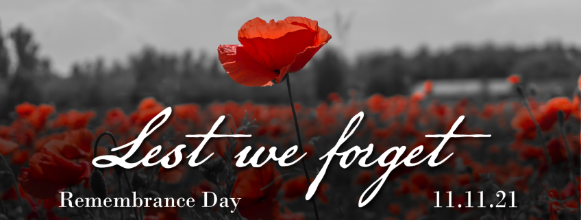 Poster for Remembrance Day event