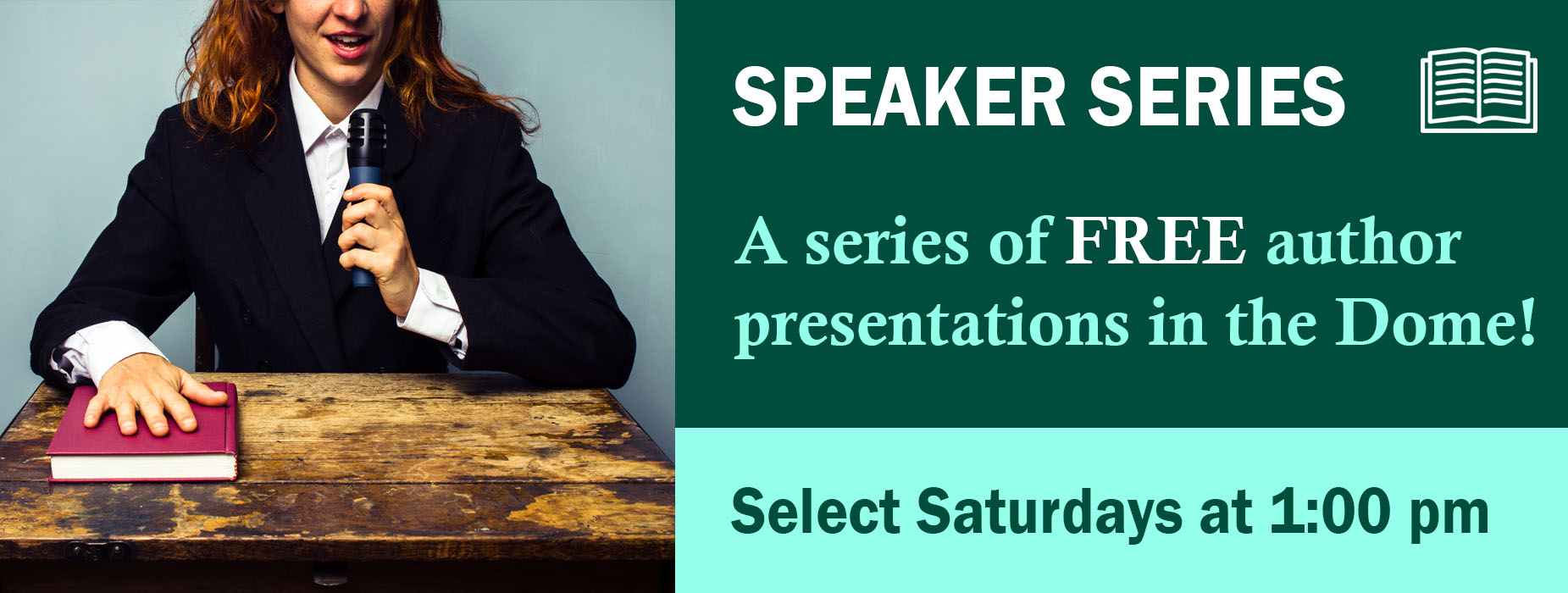 Banner Image for the Author Speaker Series event