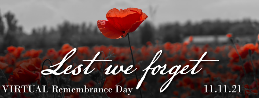 Poster for VIRTUAL Remembrance Day event