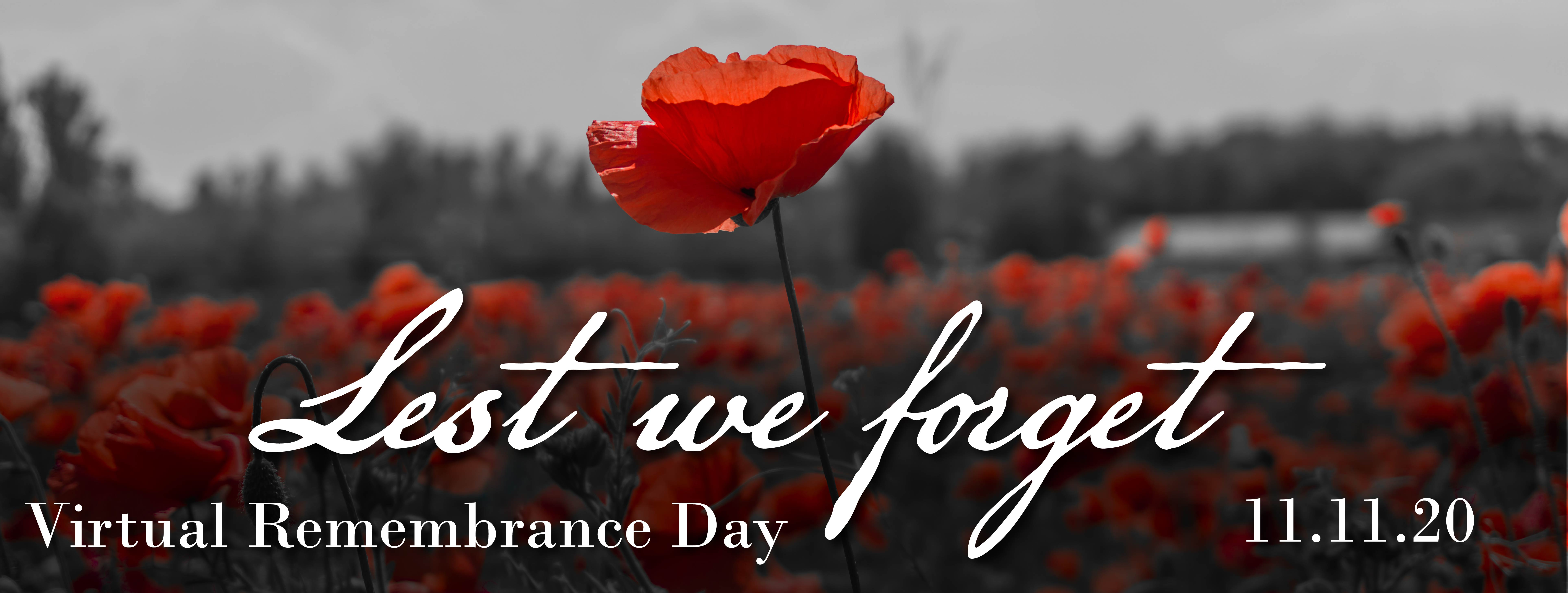 Banner Image for the Virtual Remembrance Day event