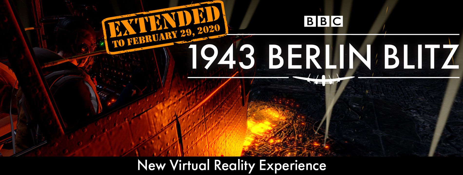 Banner Image for the Virtual Reality Experience - BBC 1943 Berlin Blitz event
