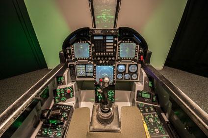 F-18 Flight simulator cockpit