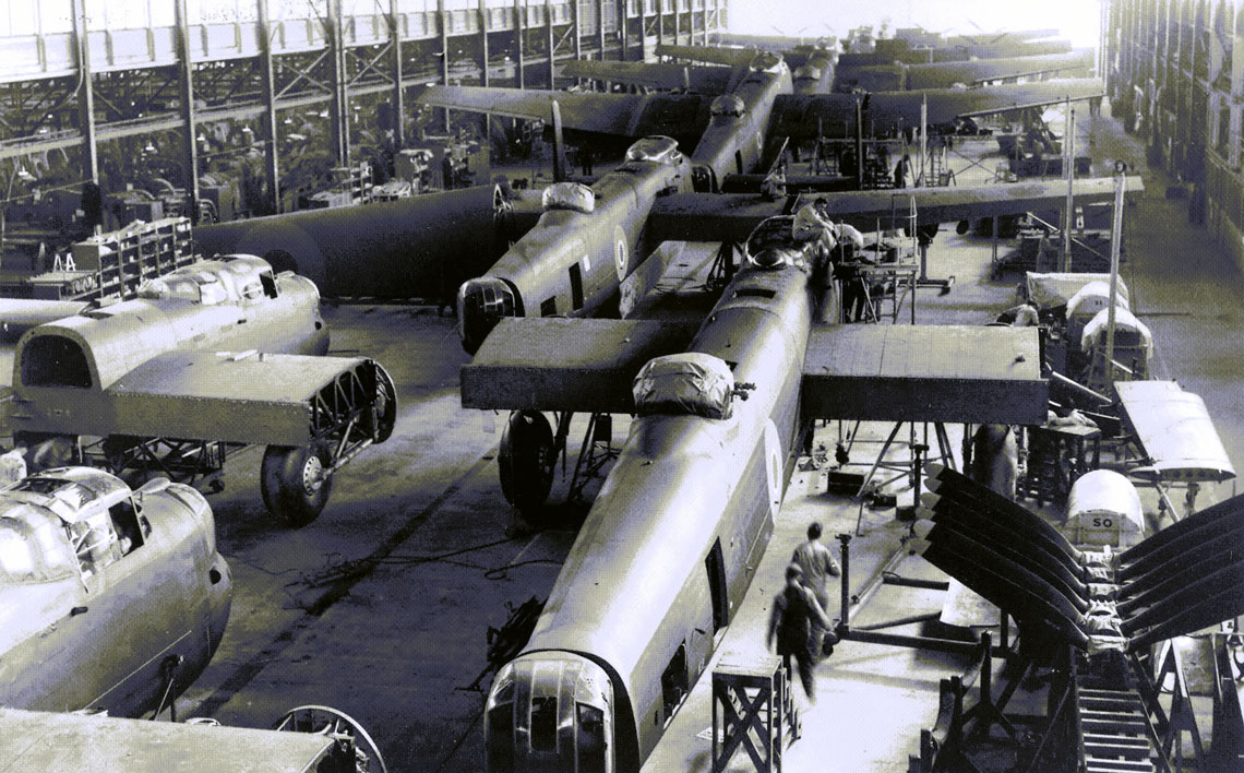 The Lancaster production line at Victory Aircraft