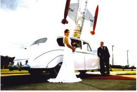 Wedding day at Canadian Warplane Heritage Museum