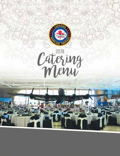 Canadian Warplane Heritage Museum, Catering Menu 2018